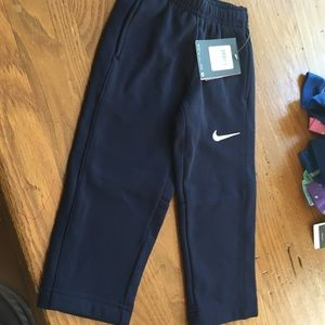 Nike 2t Navy track pants with pockets.  NWT